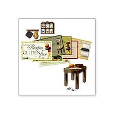 """Gluten Free Kitchen Square Sticker 3"""" x 3"""""""