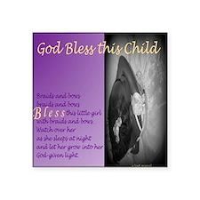 "God Bless this Child:  Brai Square Sticker 3"" x 3"""
