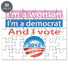 Im A Woman, Im A Democrat, and I Vote! Puzzle