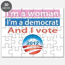 Im A Woman, Im A Democrat, and I Vote! Puzzle