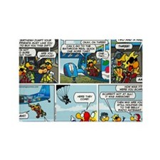 2L0102 - Chucks birthday jump Rectangle Magnet