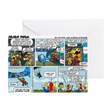 2L0102 - Chucks birthday jump Greeting Card
