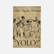 Lydia Bennet YOLO Rectangle Magnet