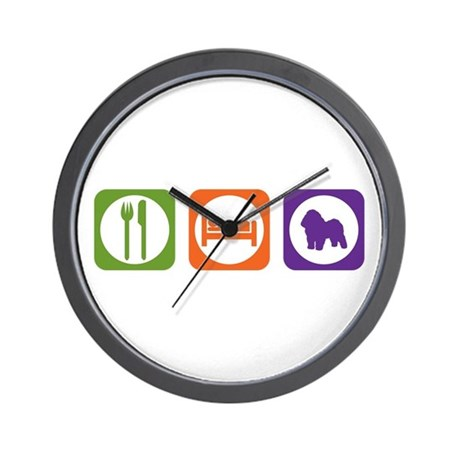 Eat Sleep Bolognese Wall Clock