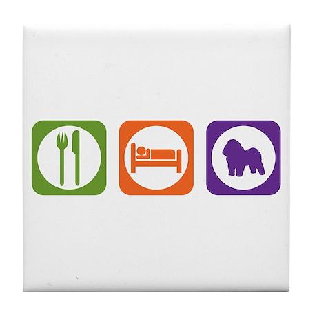 Eat Sleep Bolognese Tile Coaster