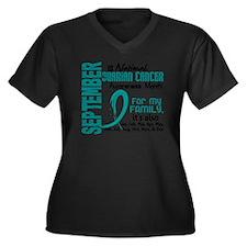 2 Women's Plus Size Dark V-Neck T-Shirt