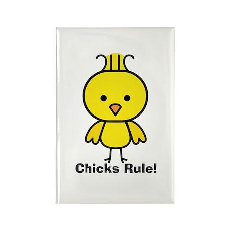 Chicks Rule! Rectangle Magnet