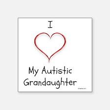 """Tile Coaster I Love My Auti Square Sticker 3"""" x 3"""""""