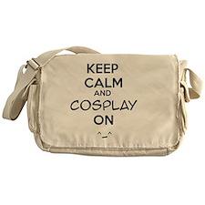 keep calm and cosplay on Messenger Bag