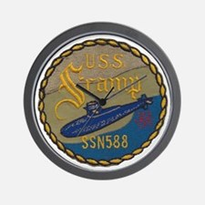uss scamp patch transparent Wall Clock