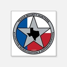 "Texas Bounty Hunters Logo Square Sticker 3"" x 3"""
