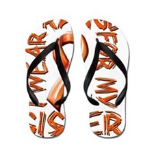 I Wear Orange for my Sister Flip Flops