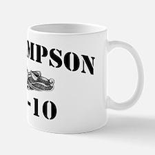 uss sampson black letters Mug