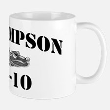 uss sampson black letters Small Small Mug