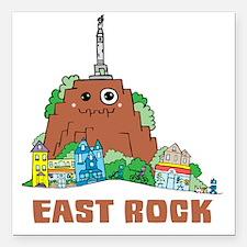 "East Rock Square Car Magnet 3"" x 3"""