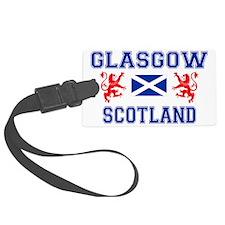Glasgow Sco Blue for white Luggage Tag