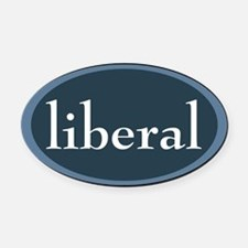 liberal Oval Car Magnet