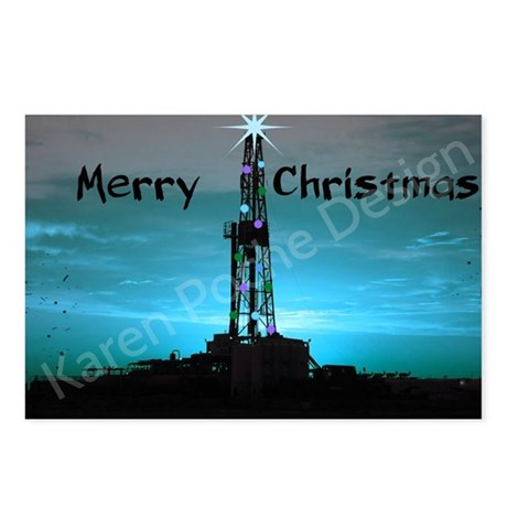 Oilfield Christmas Postcards (Package of 8)