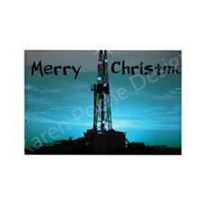 Oilfield Christmas Rectangle Magnet