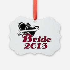 Double Hearts Bride 2013 Ornament