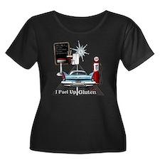 Fuel Up  Women's Plus Size Dark Scoop Neck T-Shirt