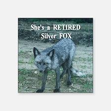 """Shes a Fox Square Sticker 3"""" x 3"""""""