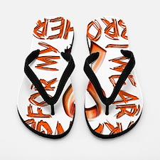 I Wear Orange for my Brother Flip Flops
