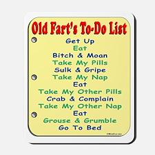 OldFartShort12x14YellowTRANS-a Mousepad