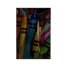 GreetingCard_Crayon_1 Rectangle Magnet