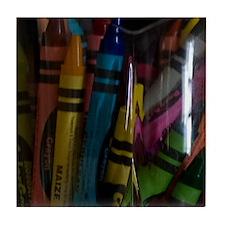 GreetingCard_Crayon_1 Tile Coaster