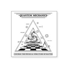 "Quantum Mechanics - Surreal Square Sticker 3"" x 3"""