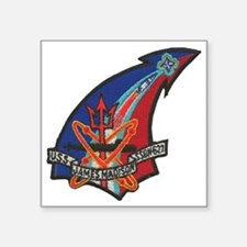 "uss james madison patch tra Square Sticker 3"" x 3"""