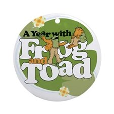 Frog  Toad Round Ornament