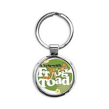 Frog  Toad Round Keychain