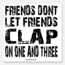 """One and Three Square Car Magnet 3"""" x 3"""""""