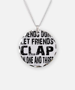 One and Three Necklace Circle Charm