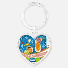 Tropical Girls Weekend 2013 Heart Keychain