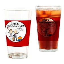 2013 Stick Bride and Groom Honeymoo Drinking Glass