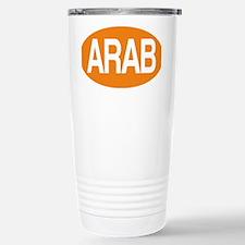 Arab orange for black Stainless Steel Travel Mug