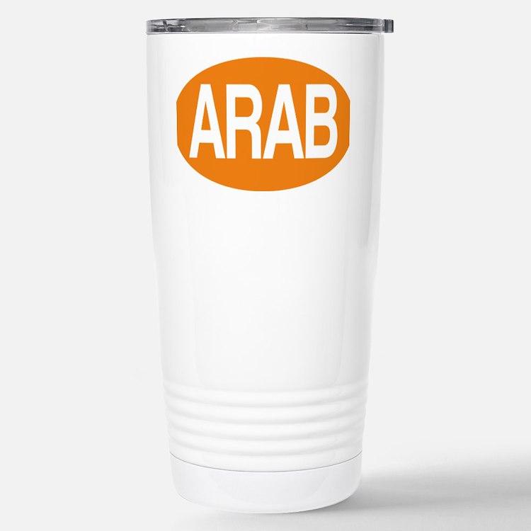 Arab orange for black Travel Mug