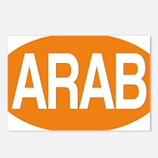 Arab orange for black Postcards (Package of 8)