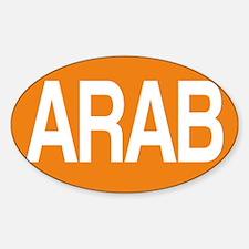 Arab orange for black Decal