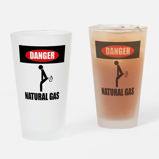 Danger Natural Gas Drinking Glass