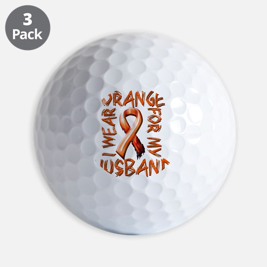 I Wear Orange for my Husband Golf Ball