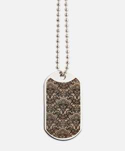 Haunted Victorian Wallpaper Dog Tags