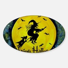 Scottish Terrier and Halloween Witc Decal