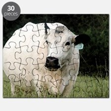 British White cow at Pasture - #3 Puzzle