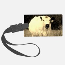 British White Cow at Pasture - S Luggage Tag