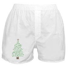 Oh holy night tree Boxer Shorts