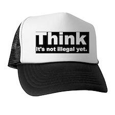 THINK ITS NOT ILLEGAL YET DARK BUMPER Trucker Hat